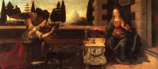 annunciation - Leonardo Da Vinci