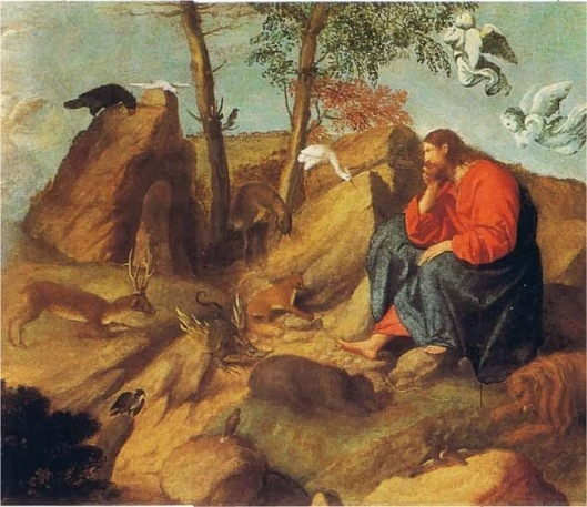 JESUS FASTING IN THE DESERT