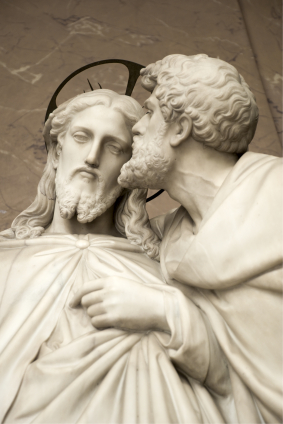 Il bacio di Giuda di Ignazio Jacometti (1854).