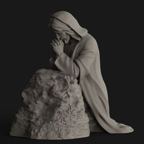 jesus-praying-3d-model-stl