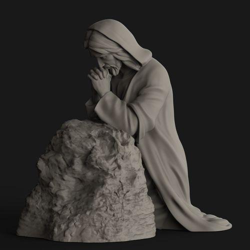 jesus-praying-3d-model-stl